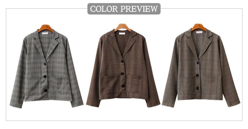 Leo check jacket