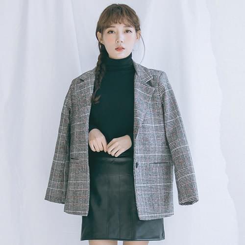 Paris Woolen Check Jacket