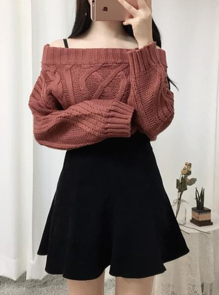 Pretzel Off Shoulder Knit