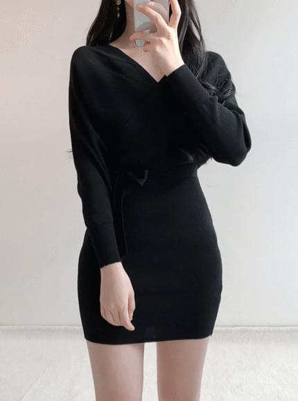 Body Knit Wrap Dress
