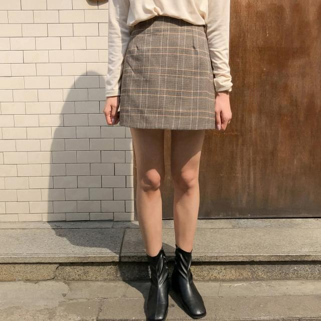 Classic Check Mini Skirt-sk スカート