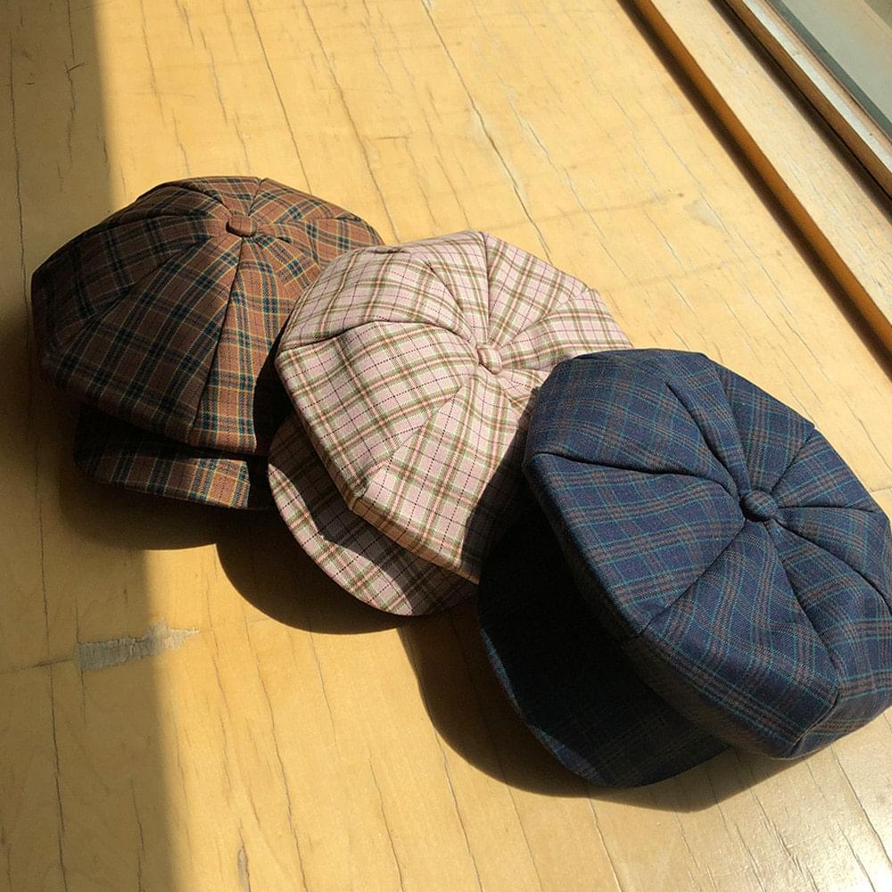VIEN Octagonal Check Cap 帽子