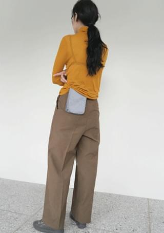 paper cotton slacks (2colors)