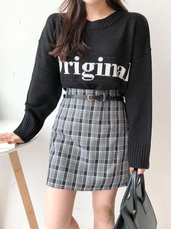 Autumn Check Skirt 裙子