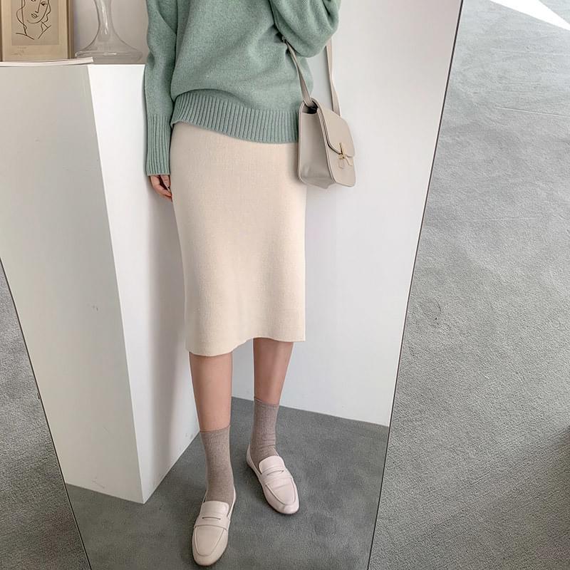 Back knit knit sk スカート