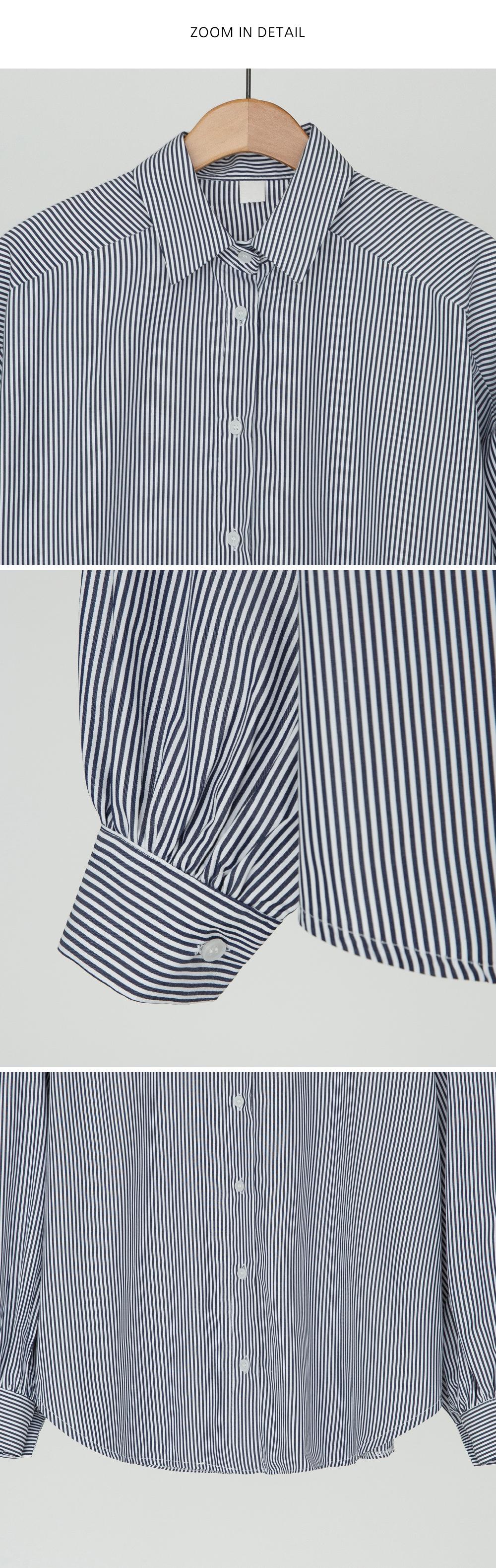 puff shirring stripe shirts