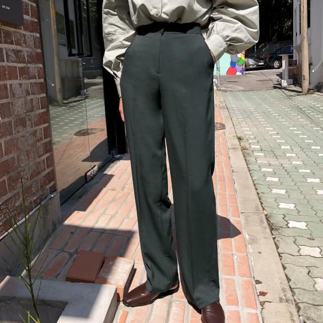 Modern High West Slim Slacks-pt 長褲