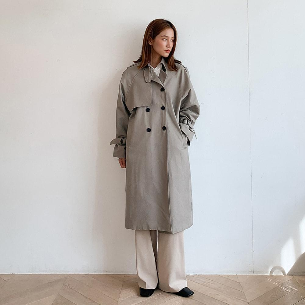 Basic Strap Trench Coat