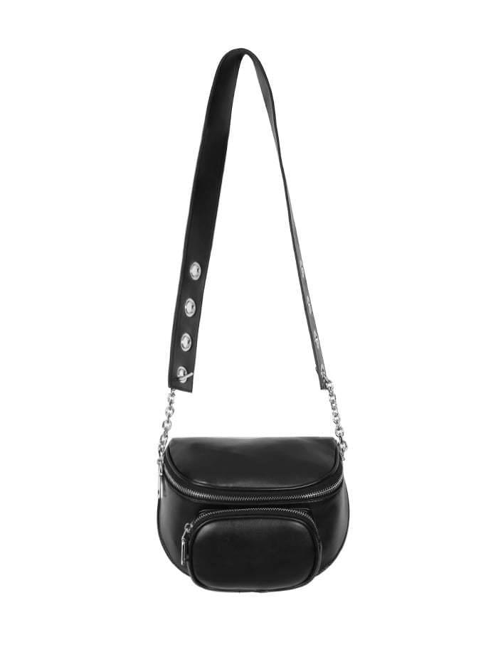 leather eyelet strap bag