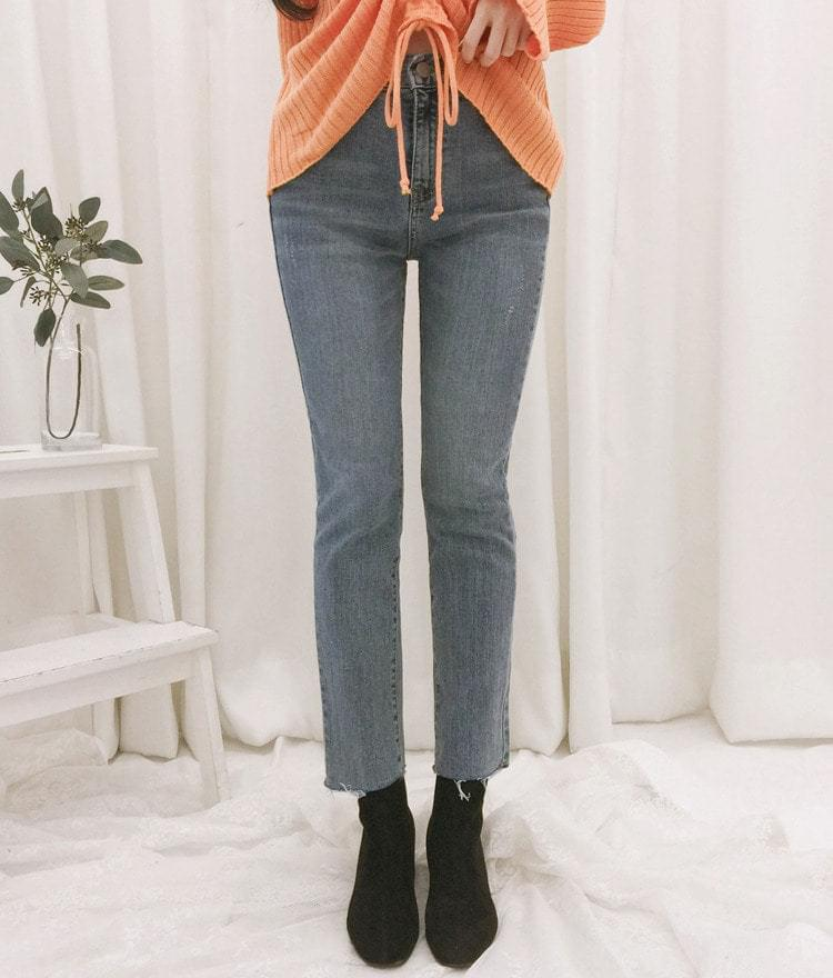 All-day denim pants