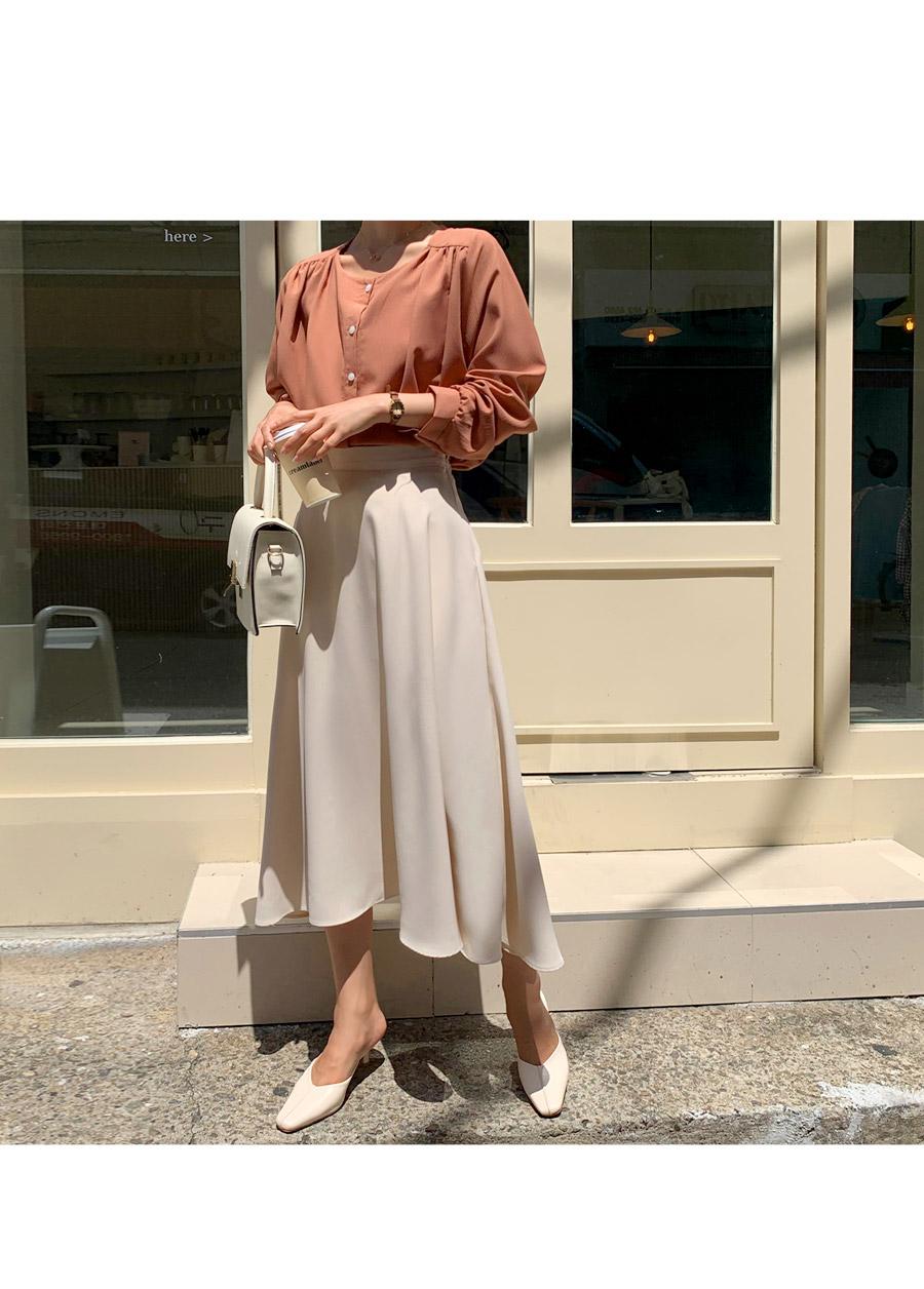 Gemma Flare Long Skirt