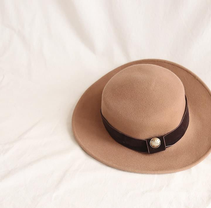 METTO WOOL BOATER HAT 帽子