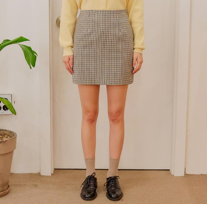 ROISY CHECK H LINE MINI SKIRT