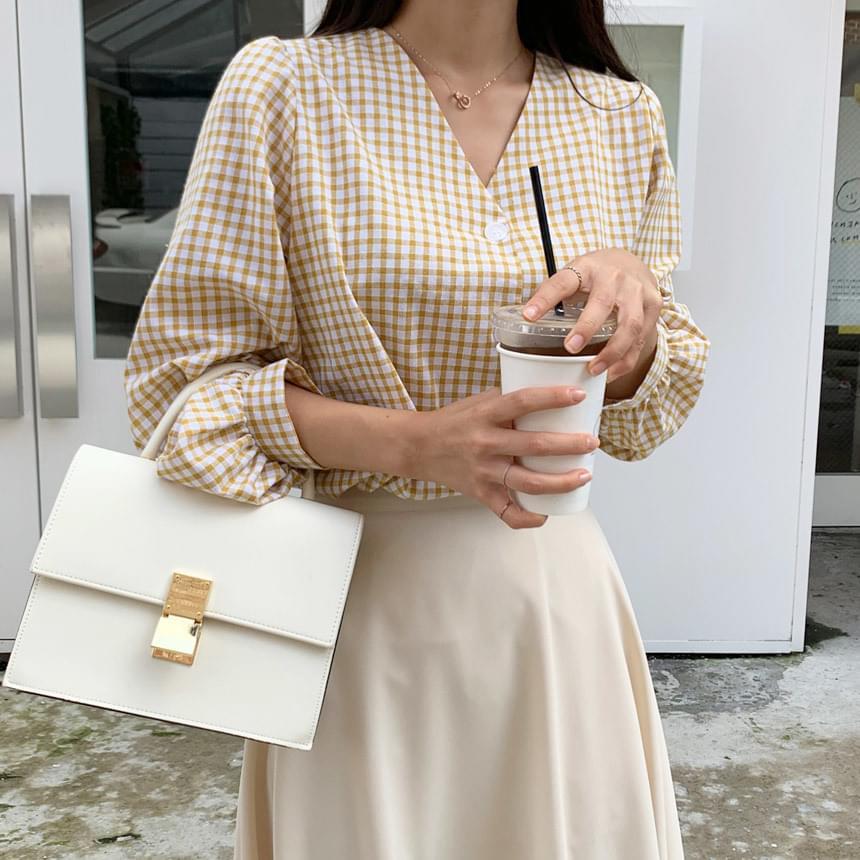Touyu check blouse