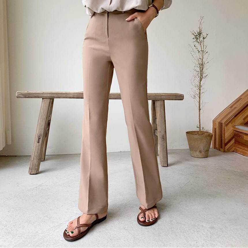 Formal Hidden Bending Boot Cut Slacks pants