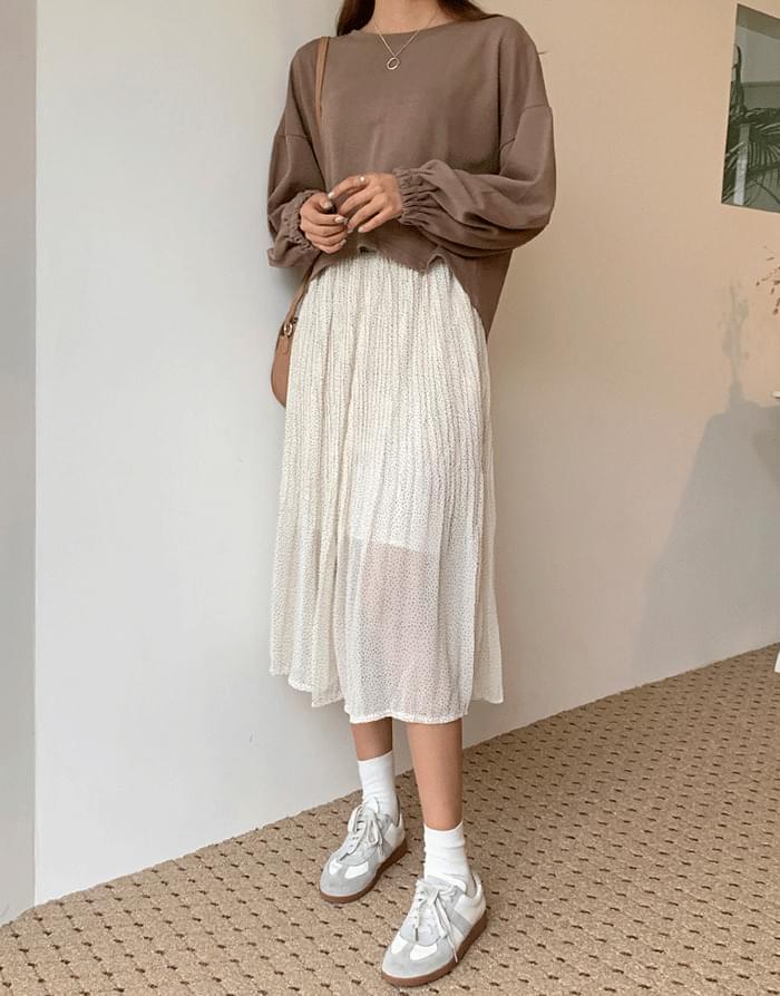 Formulated Dot Skirt