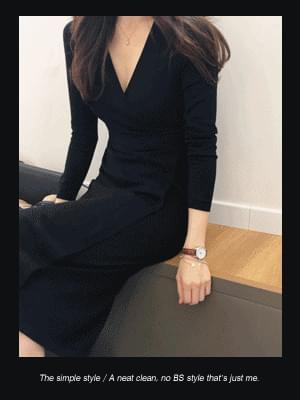 韓國空運 - Jane Knit Dress 及膝洋裝