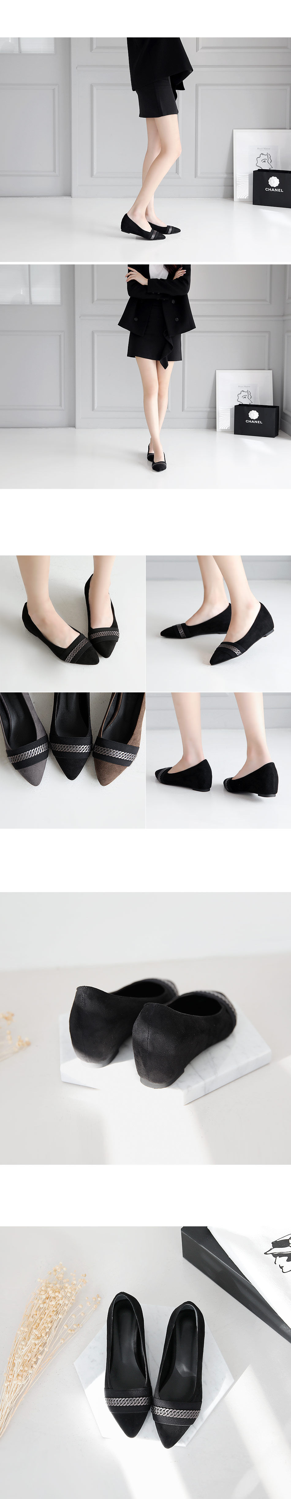 Leodon height flat shoes 5cm