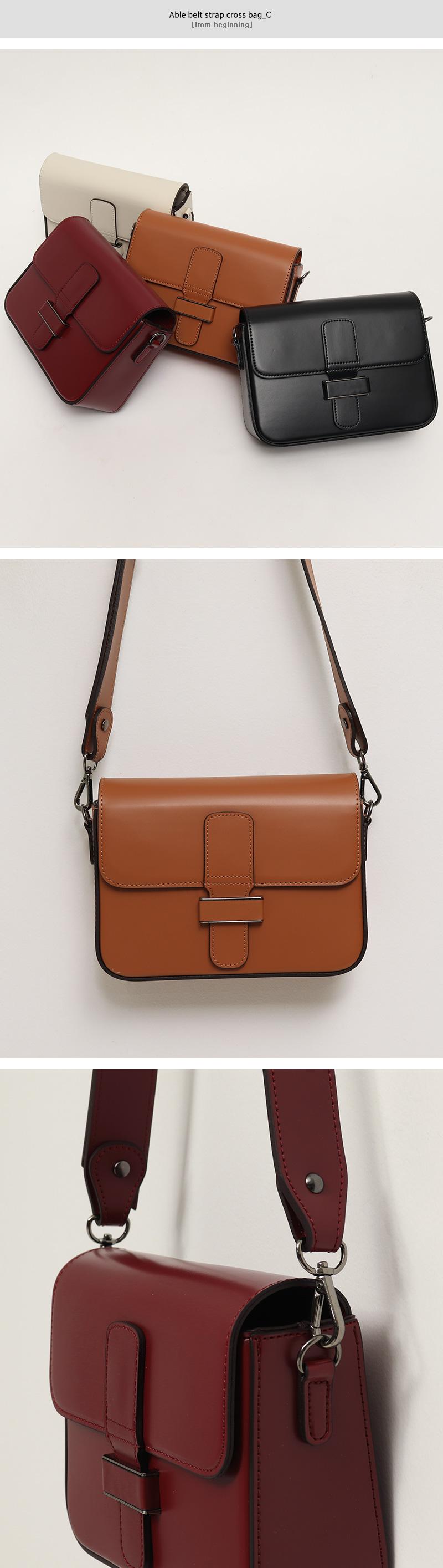 Able belt strap cross bag_C