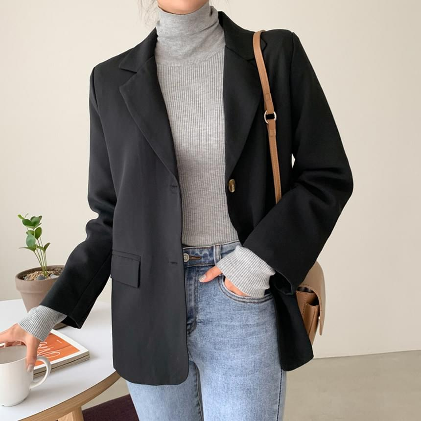 Single plain jacket