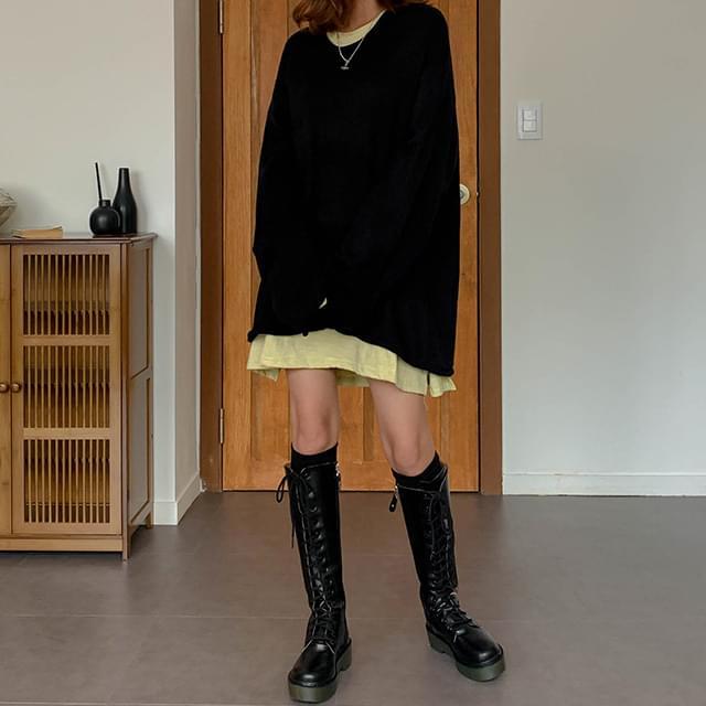 Overfit Union Long Knit & Knit Dress ワンピース