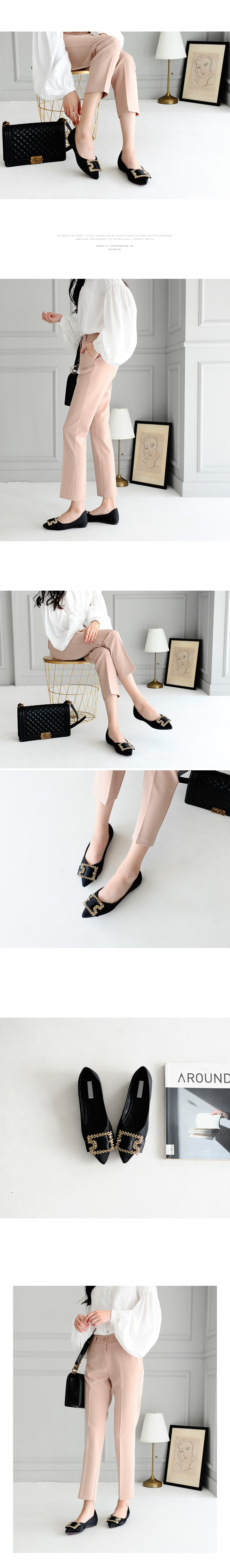 Leanine Height Flat Shoes 2cm