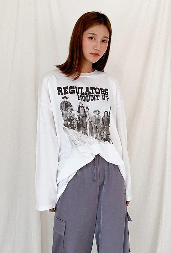 Printed round T-shirt