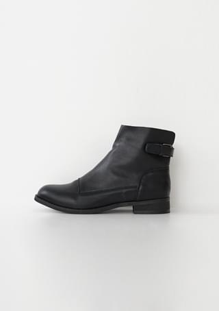 back buckle real leather boots