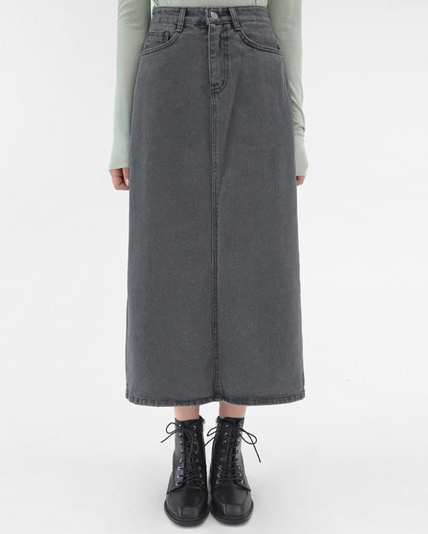 alika denim long skirts (s, m, l)