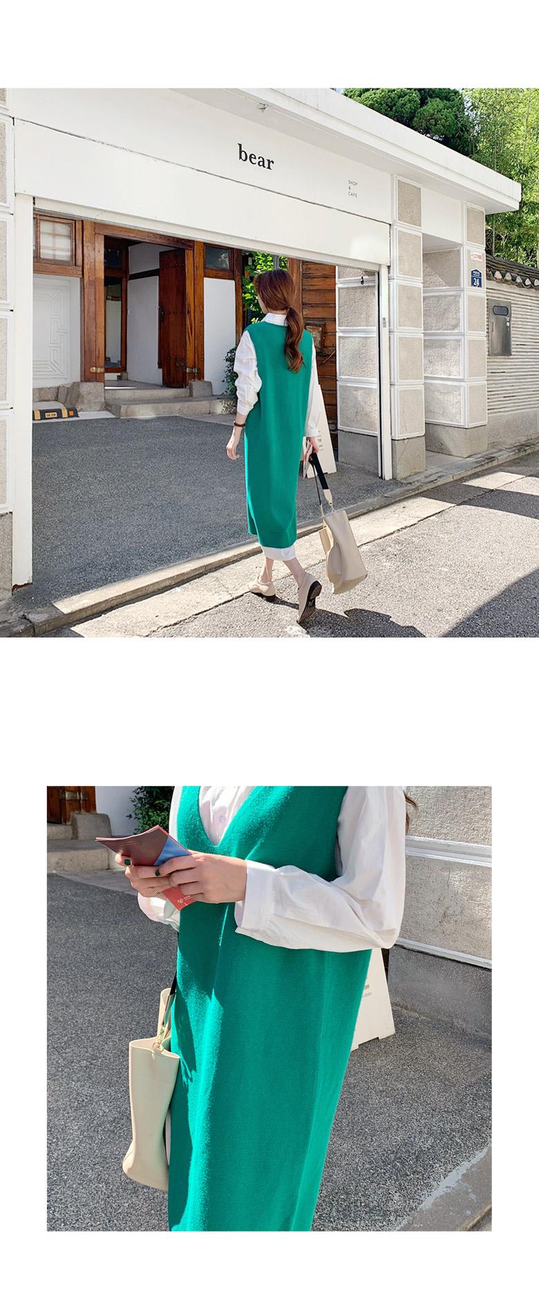 Esther Green Long Vest