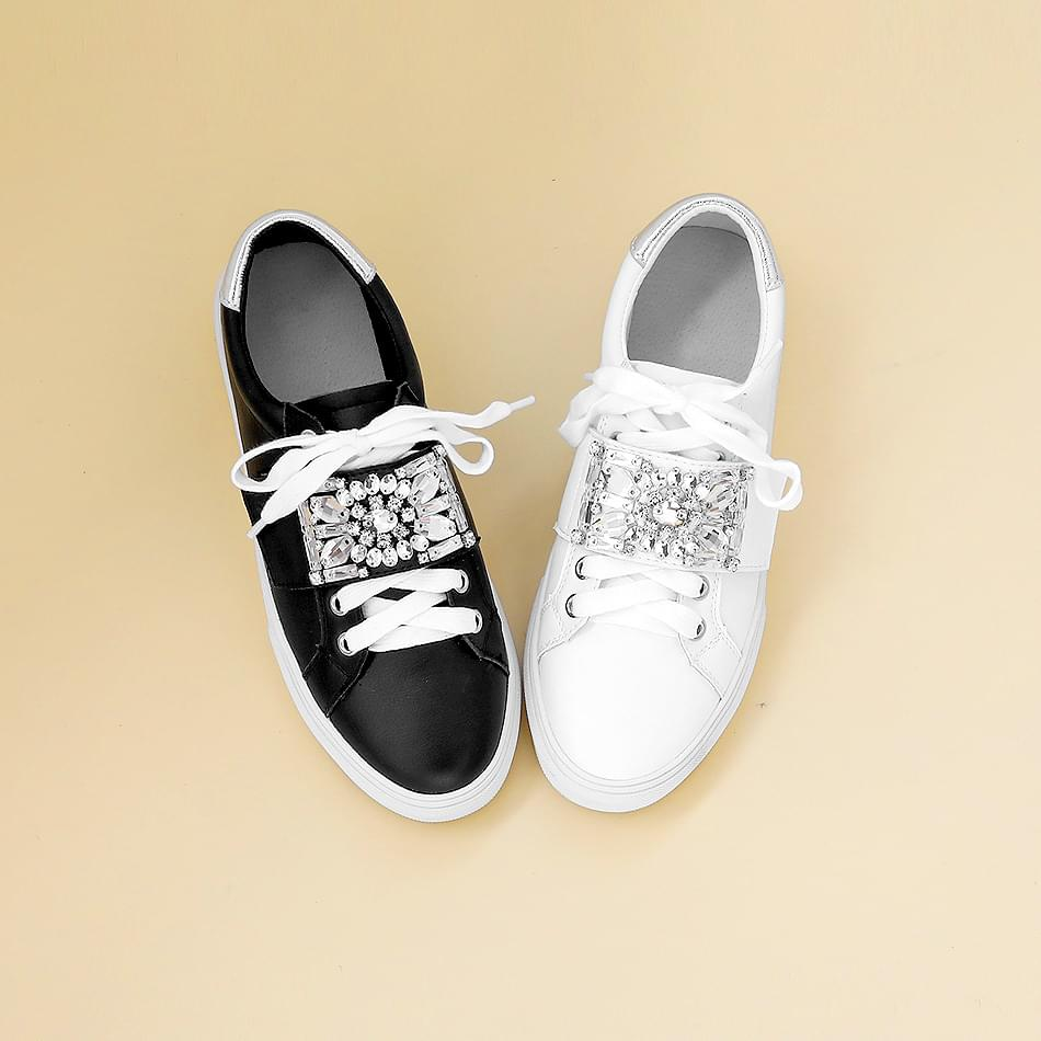 Hecans Leather Velcro Sneakers 3cm