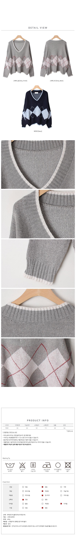 Roble Argyle Knit