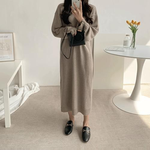 T-cloth knit long dress