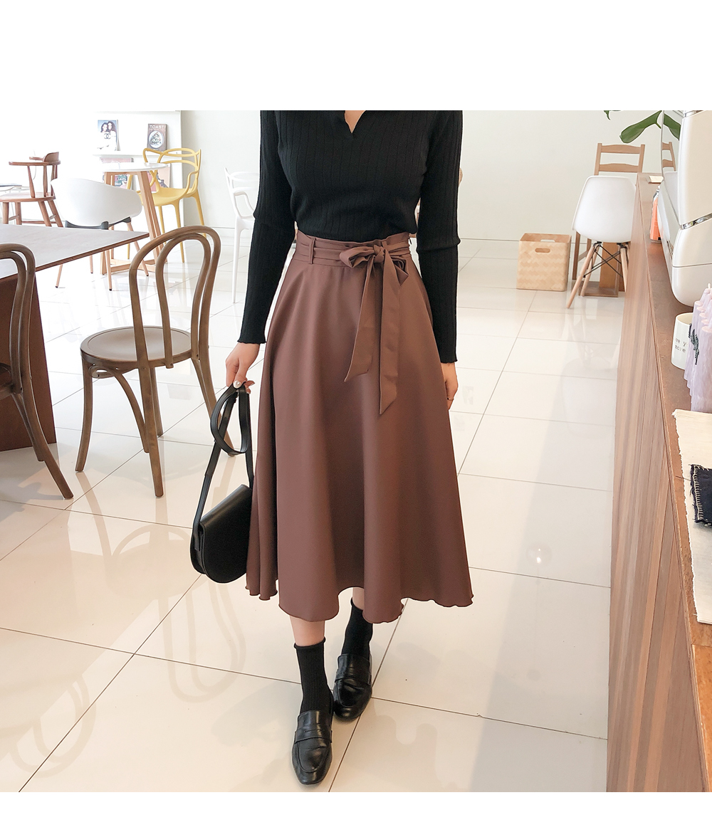 Flared ribbon skirt