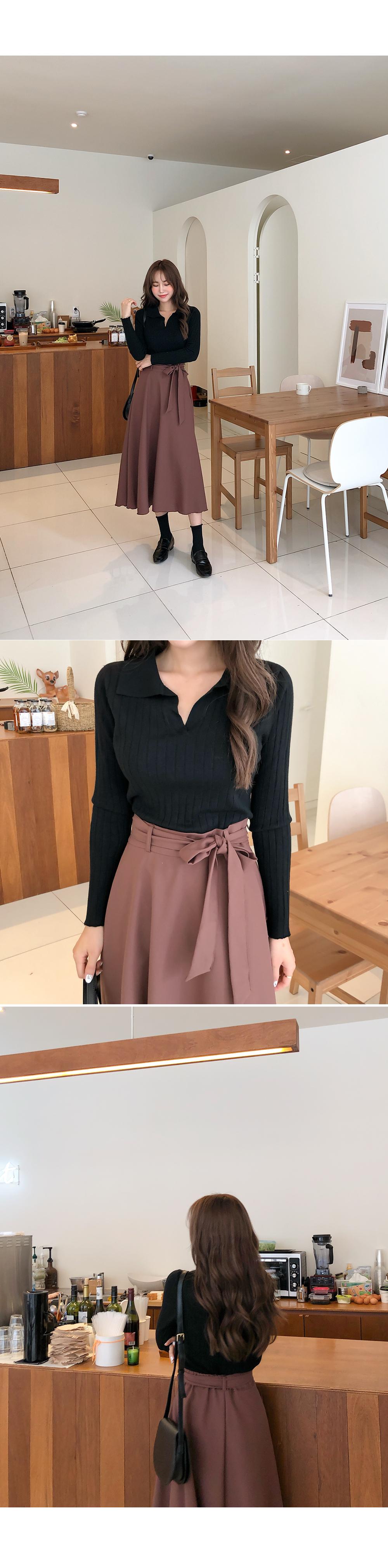 Flared ribbon skirt