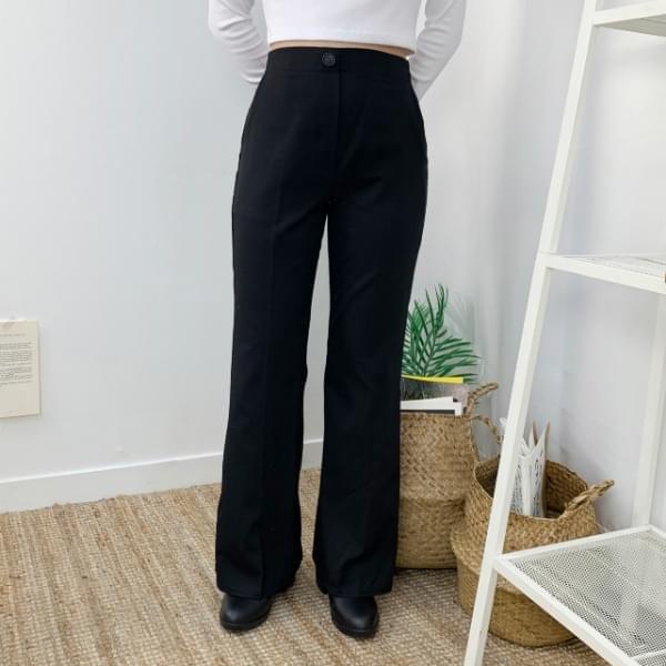 Waist Basic Bending Slacks P