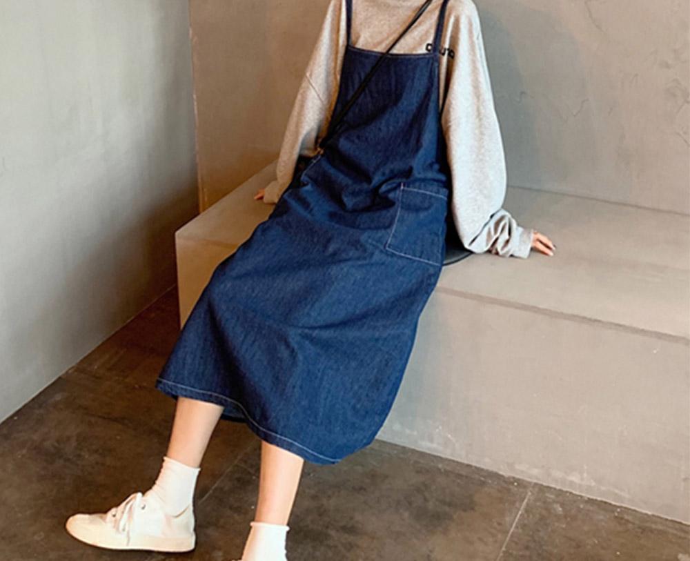 Kubebe two pocket denim dress