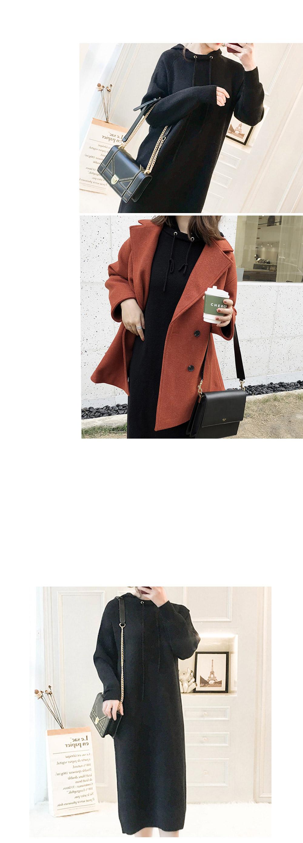 Moringbee Hooded Knit Dress