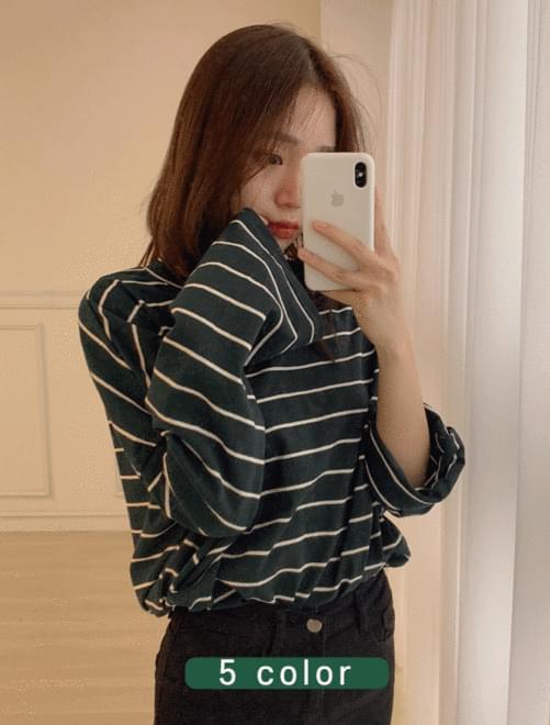 Color striped T-shirt _Y