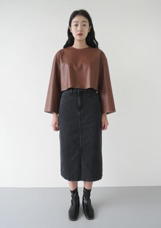 sensual fake leather top