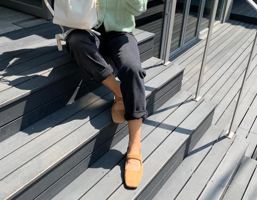 Smooth banding mary-jane shoes_C
