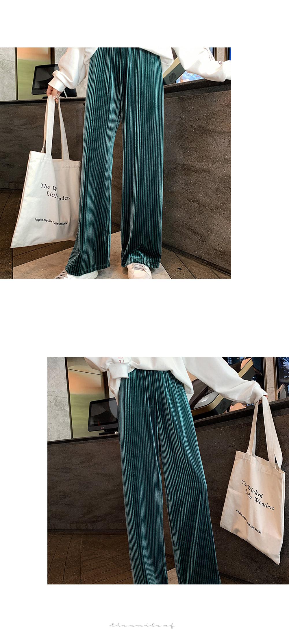 Revelvet Pleated Banding Pants
