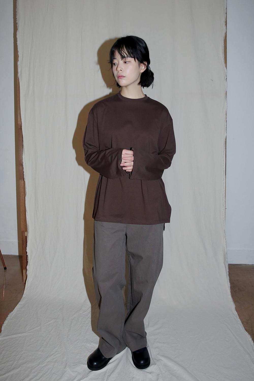 loose fit simple tee (brown)