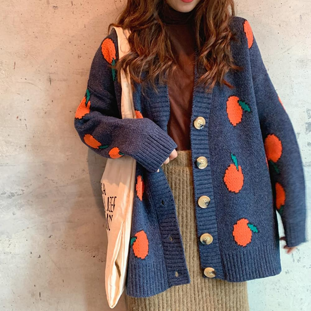 Orange Fang Boxed Cardigan