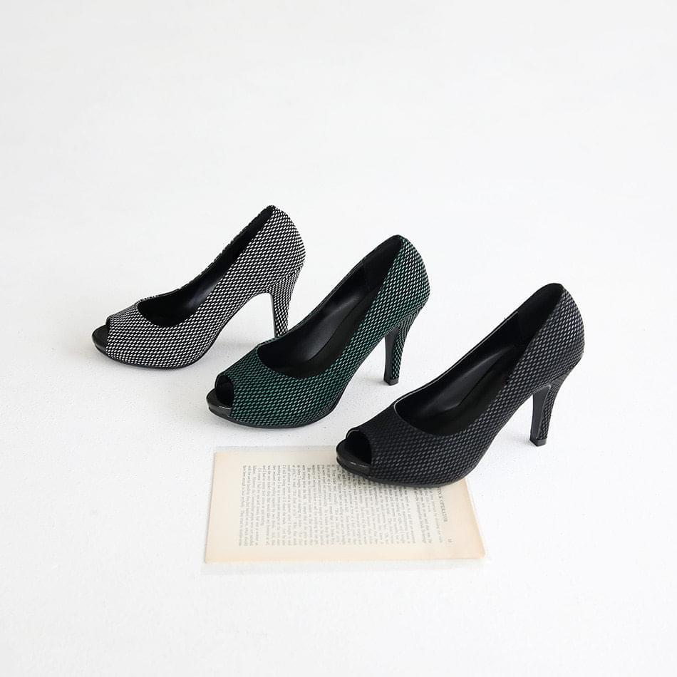 Spand Toe Open Heel 10cm
