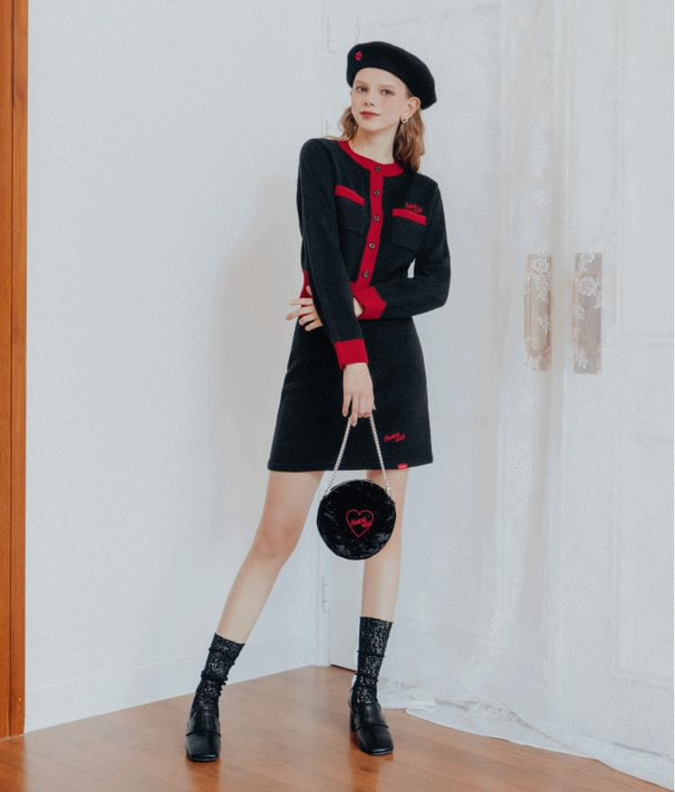 Heart Line Knit Skirt