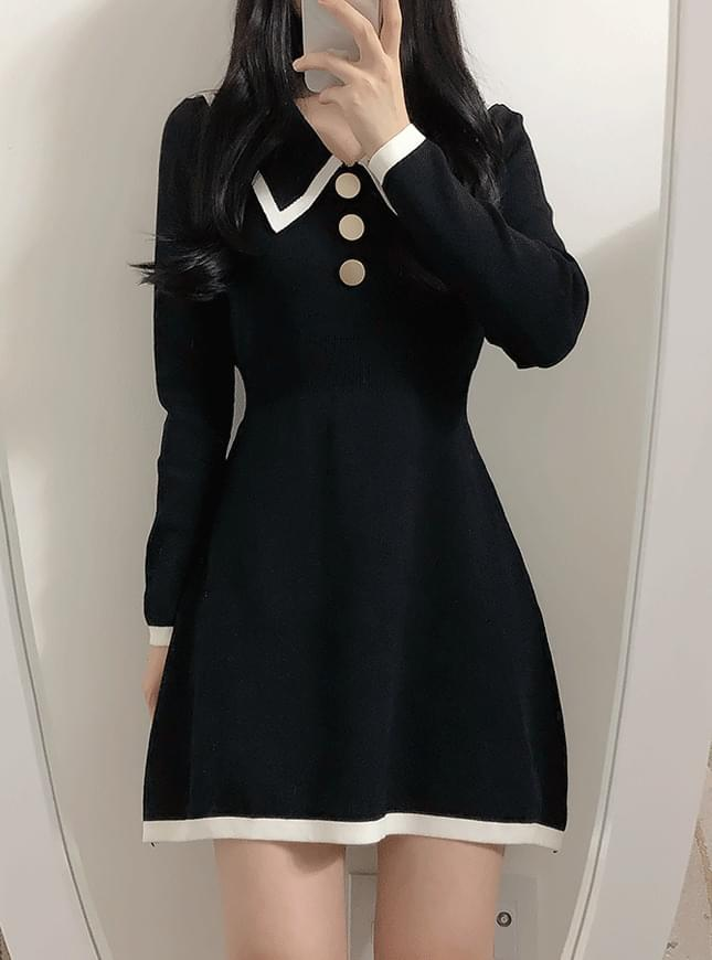 Dry Color Knit Dress