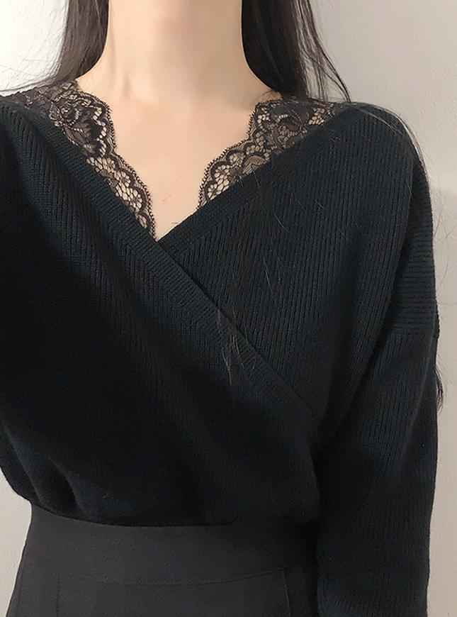Lilang Lace Wrap Knit