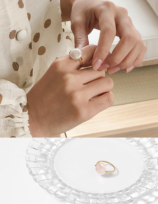 Shine pearl ring