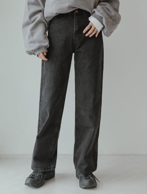 High tong denim pants